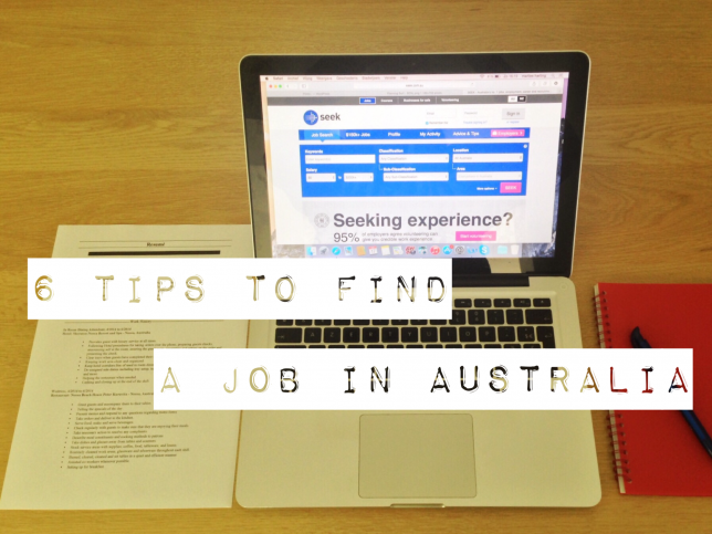 6 tips to find a job in Australia